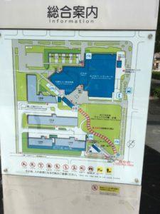 めぐろ区民キャンパスの案内マップ